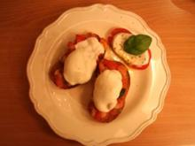 Bruschetta mit Mozzarella überbacken - Rezept