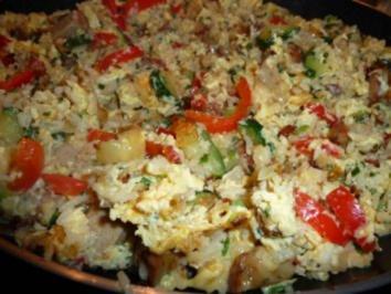 Reis-Gemüse-Restepfanne - Rezept