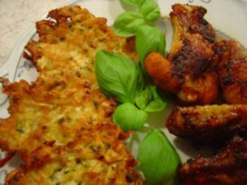 Steckrüben-Rösti´s mit Chicken Wings - Rezept