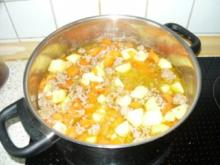 Kartoffel-Möhren-Hackfleisch Suppe - Rezept