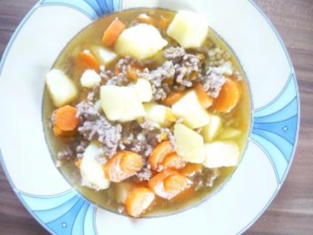 Kartoffel-Möhren-Hackfleisch Suppe - Rezept - Bild Nr. 3