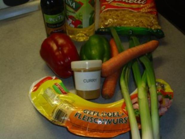 Pfannengerichte: Curry - Nudel - Pfanne - Rezept - Bild Nr. 2