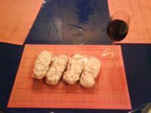 Abendbrot: Petersilienquark mit Ei und Tomate auf Baguette - Rezept