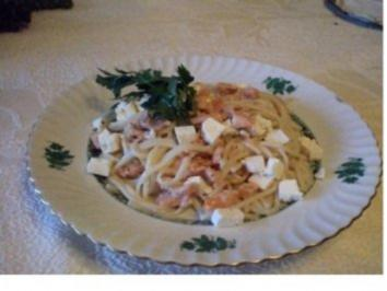 Spaghetti mit Räucherlachs - Rezept