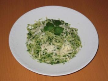 Linguine mit Rahmspinat und Parmesan - Rezept