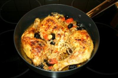 Oliven-Zitronen-Huhn - Rezept