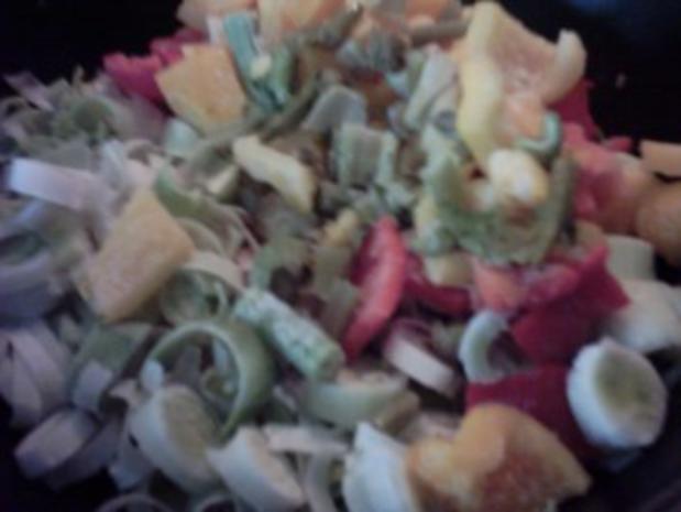 Gemüsepfanne mit Schlagsahne - Rezept - Bild Nr. 6