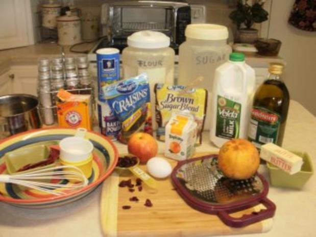 Pfannkuchen - Apfel und Cranberries - ein grosser Pfannkuchen-gebacken im Ofen - 163 Kal. fettarm Mit Bildern - Rezept - Bild Nr. 2