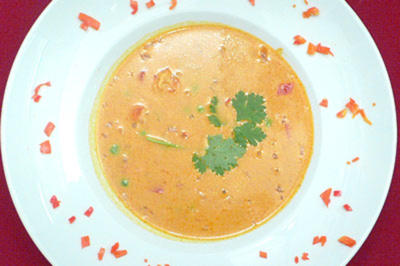 Kokos-Curry-Krebsfleischsuppe - Rezept