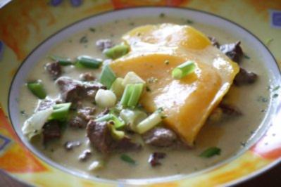 Currysuppe mit Mango und Rindfleisch - Rezept