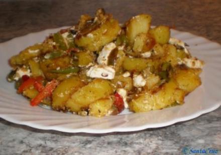 Bratkartoffeln griechische Art - Rezept