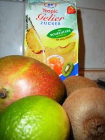 Mango-Konfitüre mit Kiwi und Limette - Rezept - Bild Nr. 2