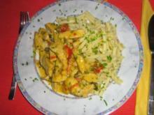 Currygeschnetzeltes von der Pute mit Nudeln - Rezept