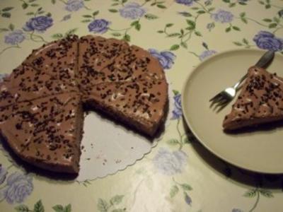 Nougat- Kuchen ohne Backen - Rezept