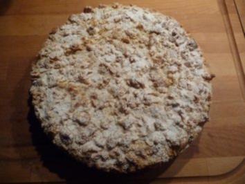 Käse-Pflaumen-Streusel Kuchen - Rezept