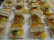 Blätterteigkissen mit Schinkenmus gefüllt - Rezept