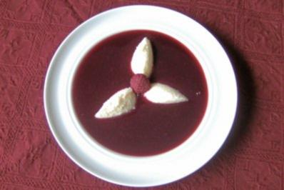 Himbärsuppe mit Grießnocken - Rezept