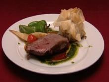 American Roastbeef mit Pilzstrudel (Manou Lubowski) - Rezept