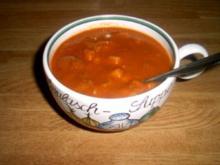 Feurige Goulaschsuppe - Rezept