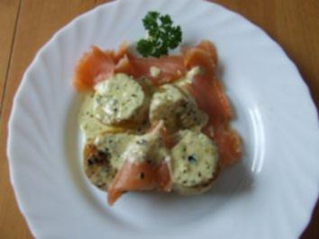 Gebratene Kräuterkartoffeln mit Lachs - Rezept