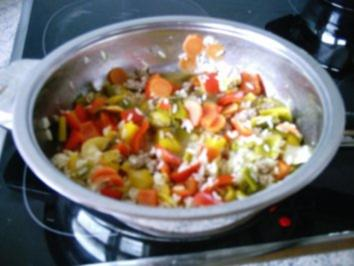 Pfannengericht:  Asiatische Reispfanne - Rezept