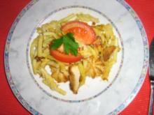 Curry-Geschnetzeltes überbacken mit Parmesan - Rezept