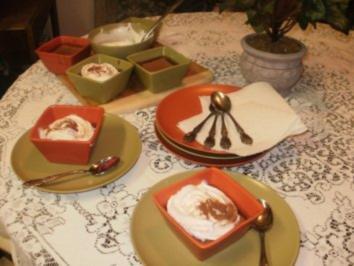 Kaesekuchen - Rum Kaffee Kaesekuchen Tassen - kann in ofenfeste Tassen gebacken werden - Rezept