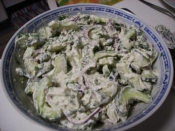 Rezept: Gurkensalat Limette-Wasabi - 胡瓜の山葵とライム合え