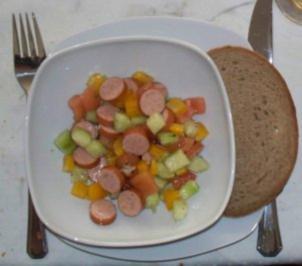 Bockwurstsalat - Rezept
