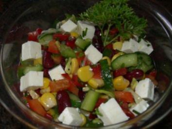 Salatbar:  BAUERNSALAT,  griechische Art - Rezept