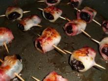 Fingerfood-Pflaumen mit Mantel - Rezept