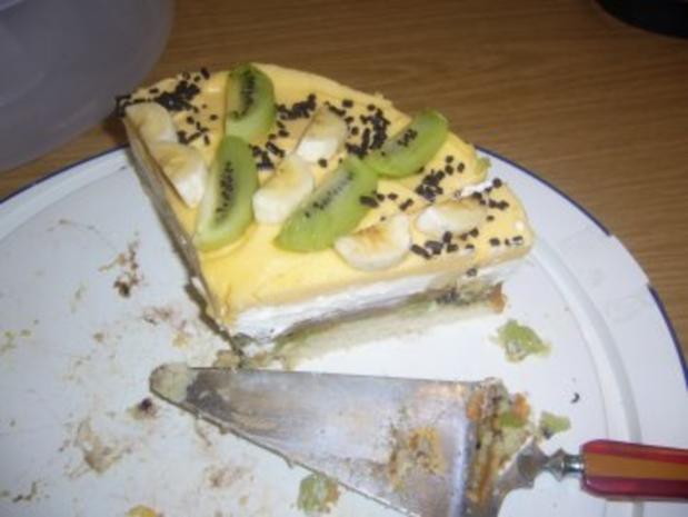 Torte: Kiwi-Bananen-Aprikosen-Torte - Rezept - Bild Nr. 7