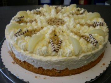 Haselnuss-Birnen-Philadelphia-Torte - Rezept