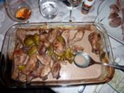 Hühnchenkeulen mit  Feigen - Rezept