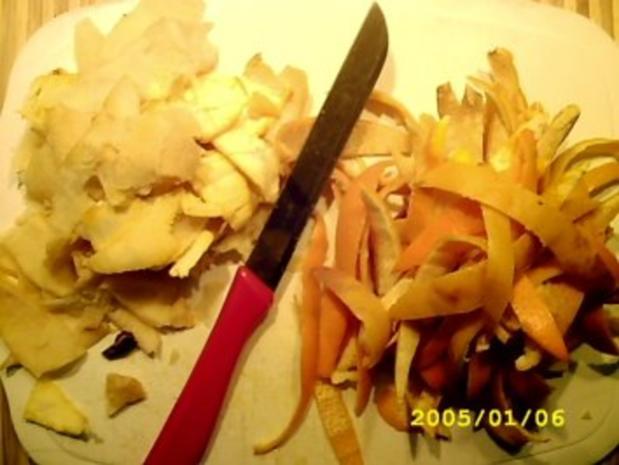 Orangenschalen in Ingwersirup - Rezept - Bild Nr. 2