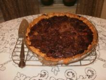 Pie- Pumpkin mit Nuessen - Suedstaaten von Amerika Rezept fuer Thanksgiving Feiertag - dieser Pie ist aber um das ganze Jahr beliebt- mit 4 Bilder - Rezept