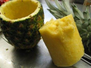 Ananas aushölen - aber wie? - Rezept