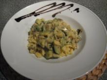 Spätzle mit Auberginen-Zucchini-Gemüse - Rezept