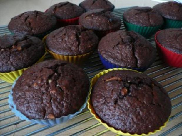Kaffee-Marzipan-Mandel-Muffins - Rezept - Bild Nr. 6