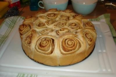 Schneckenkuchen mit Zimt - Rezept