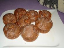 schokoladige Kokos-Ananas-Muffins - Rezept