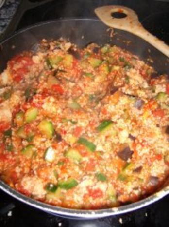 Gemüsepfanne mit Couscous - Rezept