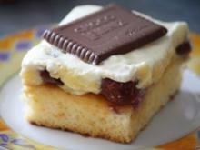 Bananen-Kirsch-Kuchen mit Keksen - Rezept