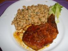 Fleischgerichte - Schweinskotelett pikant mit gebratenen Spätzle - Rezept