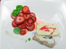 Vanille- und Pralinenparfait mit gepfefferten Erdbeeren - Rezept - Bild Nr. 9