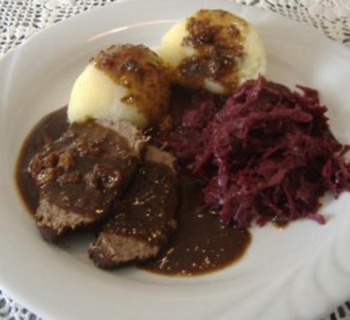Westfälischer Sauerbraten mit Pumpernickelsauce - Rezept