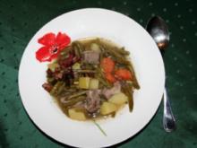 Eintopf: Bohnen mit Lamm - Rezept