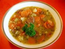 Karottensuppe mit Paprikamettwurst - Rezept