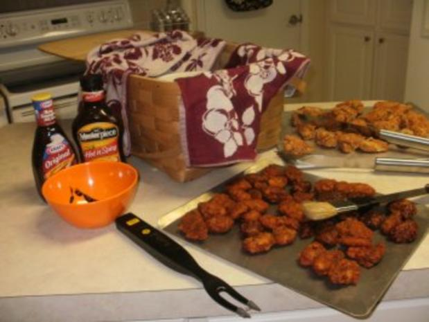 Amerikan Buffalo Wings -Huehnerfluegel gebacken mit Gewuerz -  fuer Super Bowl Football - das ist ein muss - Rezept - Bild Nr. 4
