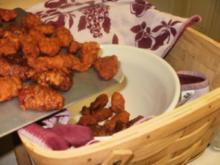 Amerikan Buffalo Wings -Huehnerfluegel gebacken mit Gewuerz -  fuer Super Bowl Football - das ist ein muss - Rezept
